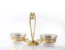 Suporte de vela dourado Fotos de Stock Royalty Free