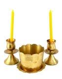 Suporte de vela e queimador de incenso foto de stock royalty free
