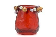 Suporte de vela votive vermelho Fotografia de Stock
