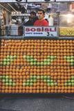 Suporte do alimento em Eminonu Istambul Fotos de Stock Royalty Free