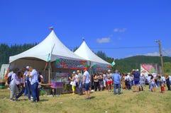 Suporte do alimento no recinto de diversão de Rozhen, Bulgária Foto de Stock