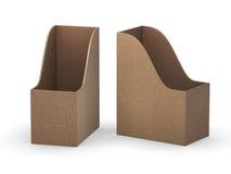 Suporte do arquivo da placa da curva do papel de embalagem com trajeto de grampeamento ilustração royalty free