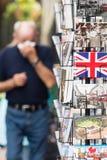 Suporte do cartão do turista de Londres Imagens de Stock