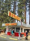 Suporte do hamburguer de Cle Elum em Washington State Foto de Stock
