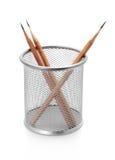 Suporte do lápis com os lápis no branco Foto de Stock Royalty Free