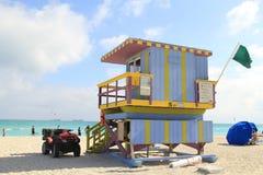 Suporte do Lifeguard na praia sul Miami Imagens de Stock Royalty Free
