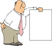 Suporte do sinal ilustração stock
