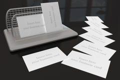 Suporte dos cartões Fotos de Stock Royalty Free