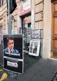 Suporte dos jornais e do compartimento em Roma Fotografia de Stock Royalty Free