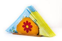 Suporte Handmade do guardanapo Fotos de Stock Royalty Free