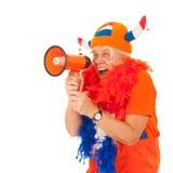 Suporte holandês do futebol Foto de Stock Royalty Free