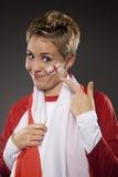 Suporte Inglaterra do aficionado desportivo do futebol Fotos de Stock