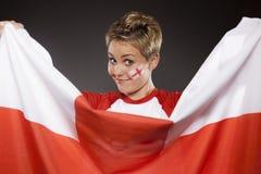 Suporte Inglaterra do aficionado desportivo do futebol Imagem de Stock