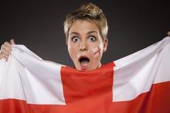 Suporte Inglaterra do aficionado desportivo do futebol Imagens de Stock Royalty Free