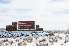 Suporte isolador armado da milícia - reserva natural de Malheur Imagem de Stock Royalty Free