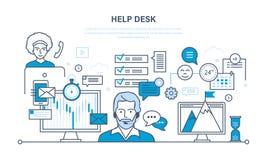 Suporte laboral, clientes de consulta do sistema Imagens de Stock Royalty Free