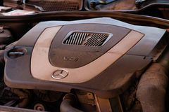 Suporte longo usado do carro da S-classe S350 de Mercedes-Benz (W221) em um stree Fotografia de Stock Royalty Free