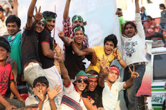 Suporte novo de Imran Khan PTI fotografia de stock