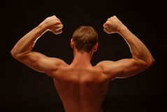 Suporte a opinião um Bodybuilder Imagens de Stock