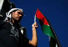 Suporte palestino fotografia de stock