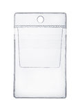 Suporte plástico claro do bolso imagens de stock