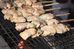 Suporte tradicional da galinha do yakitori Fotografia de Stock