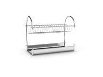 Suporte vazio dos dishwares Imagens de Stock