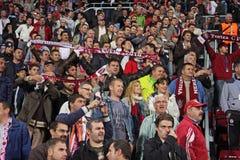 Suporters dans Champions League Photos stock