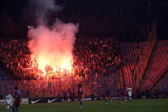 Suportes da equipa de futebol de Fenerbahce fotos de stock royalty free