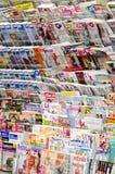 Suportes de notícia Foto de Stock