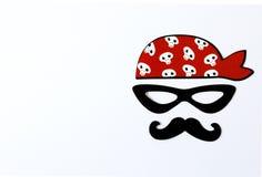 Suportes de papel para feriados e partidos partido para o Dia das Bruxas, partido do pirata fotografia de stock royalty free