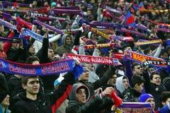 Meios de FC Steaua Bucareste FC Gaz Metan Fotografia de Stock Royalty Free
