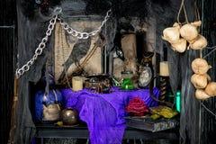 suportes de uma feiticeira para rituais Fotos de Stock Royalty Free