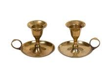 Suportes de vela de bronze Imagem de Stock