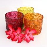 Suportes de vela de vidro Imagens de Stock Royalty Free