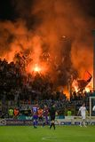 Suportes do futebol Foto de Stock