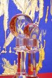 Suportes e esferas de vidro de vela Fotos de Stock Royalty Free