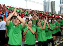 Suportes felizes Imagem de Stock Royalty Free