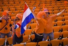 Suportes holandeses do futebol - WC 2010 de FIFA fotos de stock