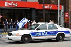 Suportes israelitas no protesto fotografia de stock