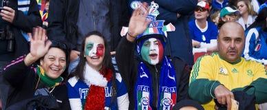 Suportes italianos do futebol - WC 2010 de FIFA Imagens de Stock
