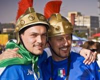 Suportes italianos do futebol - WC 2010 de FIFA Fotografia de Stock Royalty Free