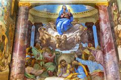 Suposición de los pasos del español de Mary Fresco Trinita Dei Monti de la Virgen imagen de archivo