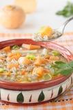 Suppe der Rübe und der Gerste Stockfoto