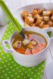 Suppe in der Schüssel Stockfotografie