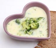 Suppe des Brokkolis stockbilder