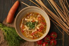 Suppe des strengen Vegetariers lizenzfreies stockfoto