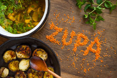 Suppe gedient Lizenzfreies Stockbild