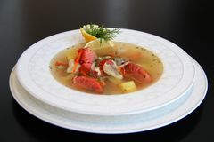 Suppe Königs Fish Stockfotos