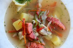 Suppe Königs Fish Stockbild